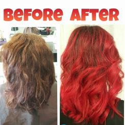 Red hair colour